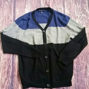 Brooks Brothers merino wool colorblock cardigan XL